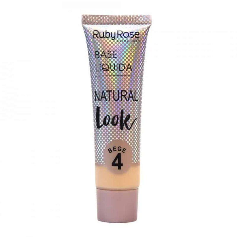Base Líquida Natural Look Ruby Rose - 29 ml – Bege HB8051 - Cor 04