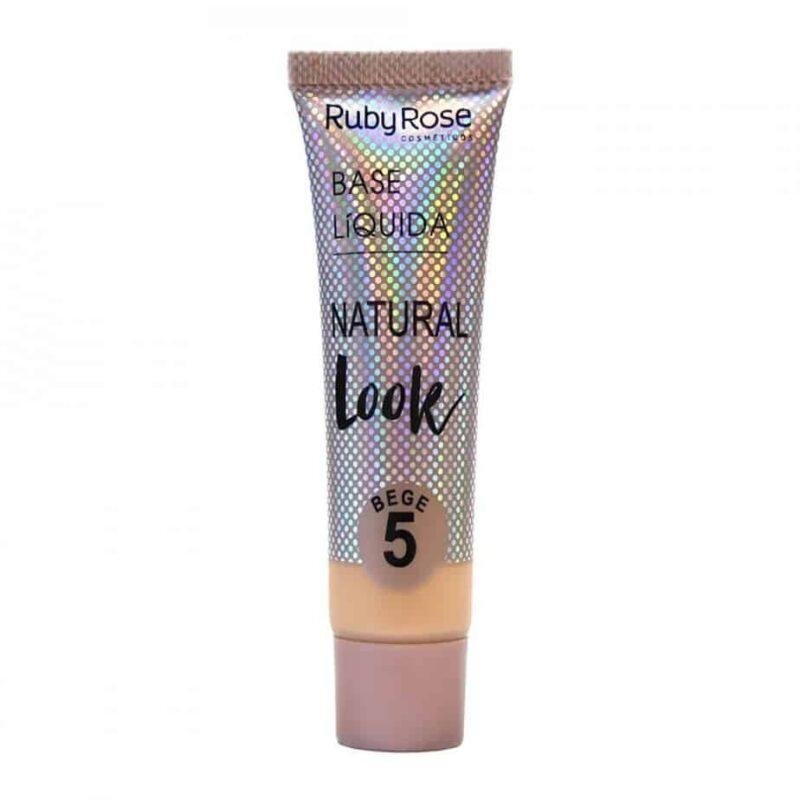 Base Líquida Natural Look Ruby Rose - 29 ml – Bege HB8051 - Cor 05