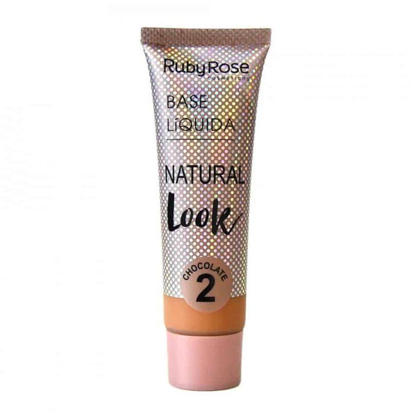 Base Líquida Natural Look CHOCOLATE 2 da Ruby Rose