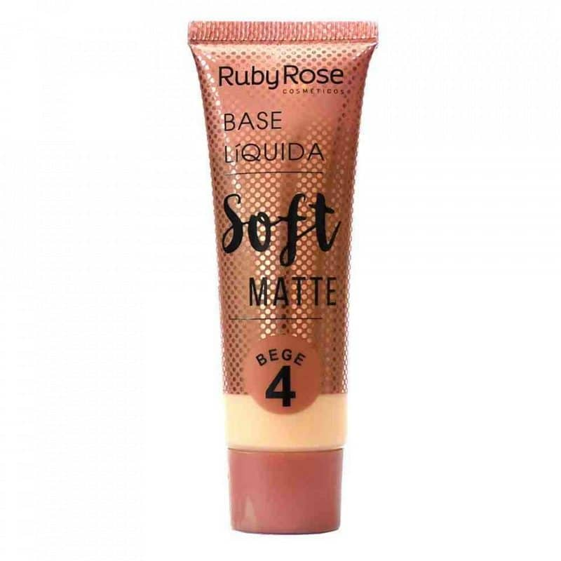 base líquida Soft Matte BEGE da Ruby Rose (cor B04