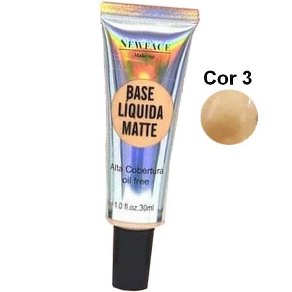 Base Líquida Matte da NewFace Cor 3