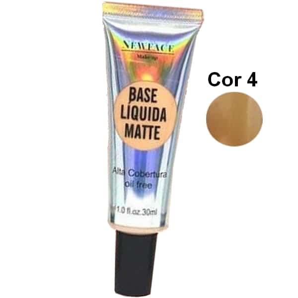 Base Líquida Matte da NewFace Cor 4