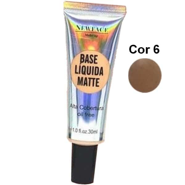 Base Líquida Matte da NewFace Cor 6