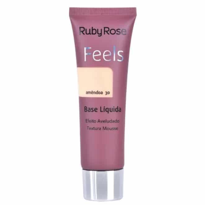 Base Líquida Feels Cor Amêndoa 30 - Ruby Rose