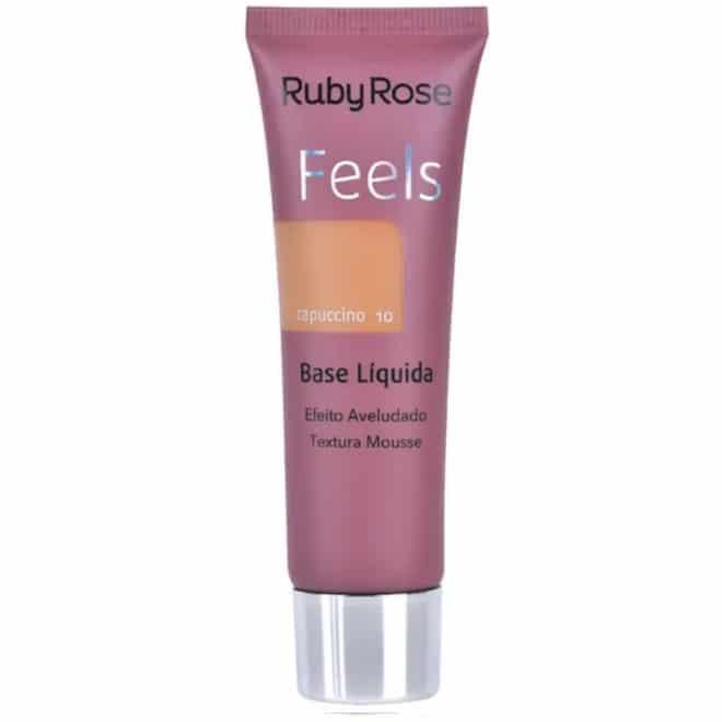 Base Líquida Feels Cor Capuccino 10 - Ruby Rose