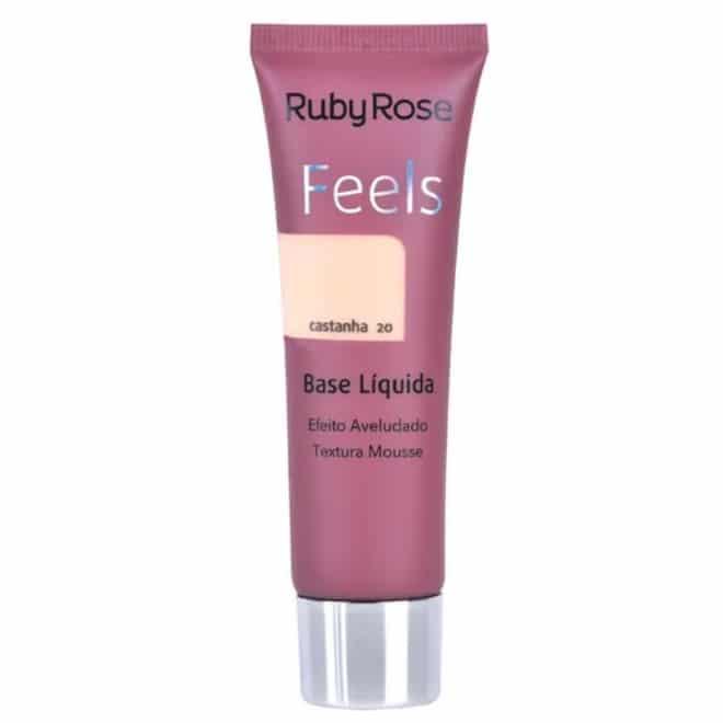 Base Líquida Feels Cor Castanha 20 da Ruby Rose