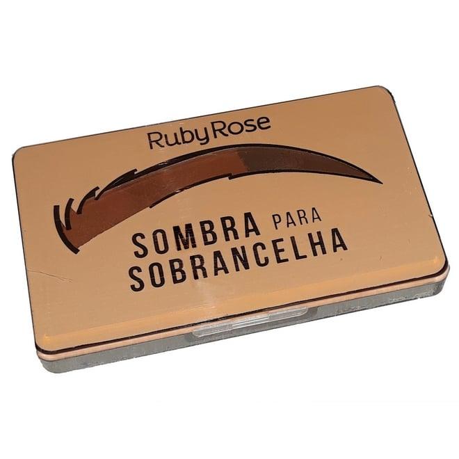 sombra para sobrancelhas cor chocolate 3 da Ruby Rose