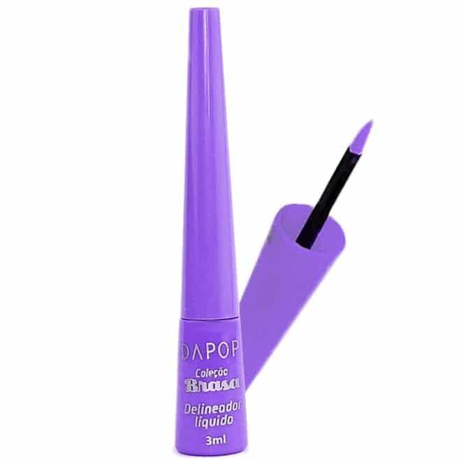 delineador liquido colorido brasa da dapop cor9