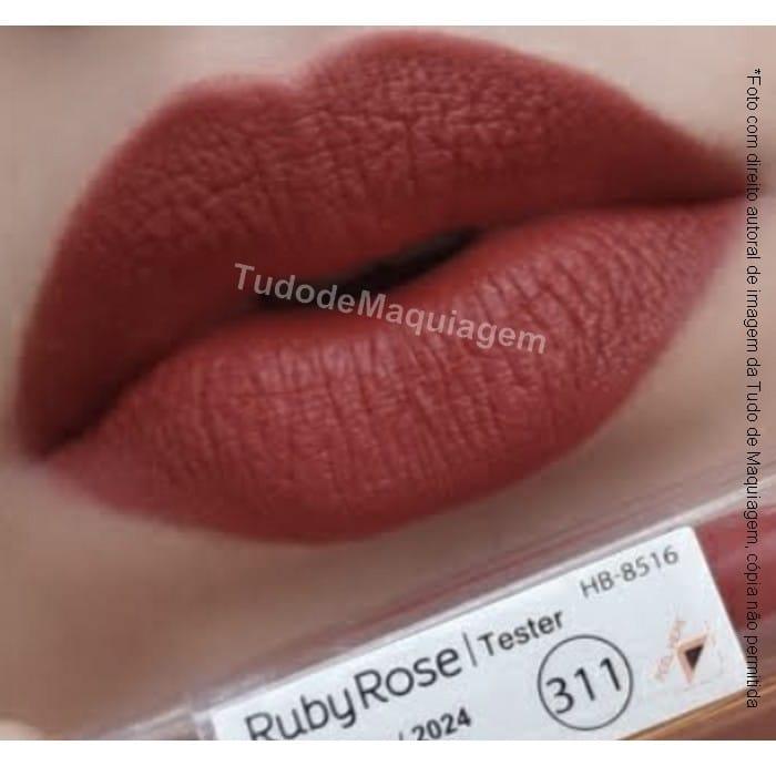 batom matte Ruby Rose Cor 311