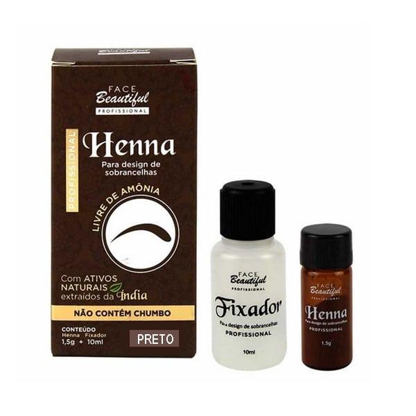 Henna para Sobrancelhas Cor Preto