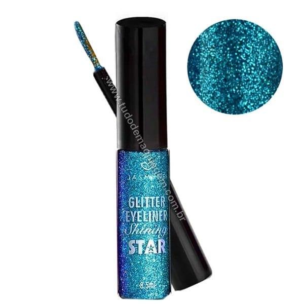 Delineador Glitter Shining Star da Jasmyne Cor azul
