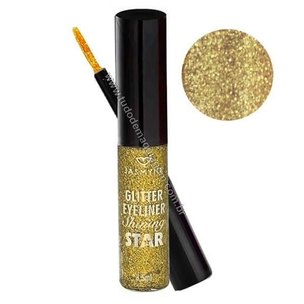 Delineador Glitter Shining Star da Jasmyne Cor amarelo