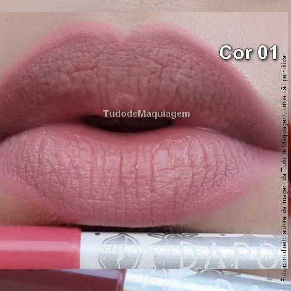 Lápis contorno labial Dapop Cor 01