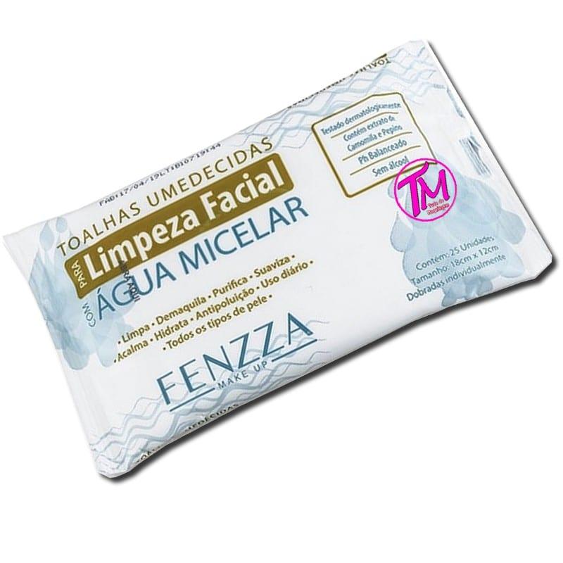 toalhas umedecidas água micelar Fenzza