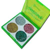 Paleta de Sombra Glitter Explosion Luisance L6060B aberto